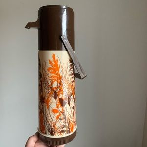 Vintage Aladdin Wheat Pump-a-Drink Coffee Thermos